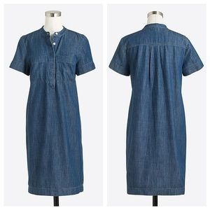 J. Crew Denim Short Sleeve Shirtdress S-M